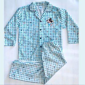 Disney unisex vintage 2 piece pajamas set  11/12